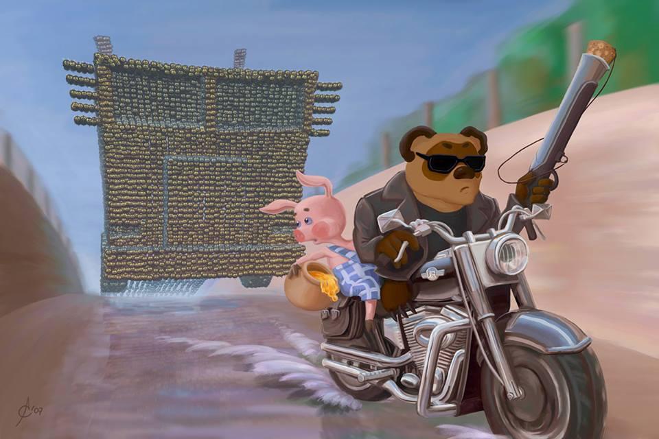 Старые мультфильмы на новый лад Винни Пух Терминатор