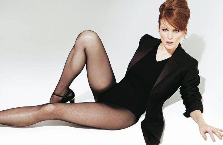 Джулианна Мур красивые фото чулки Julianne Moore photos stockings