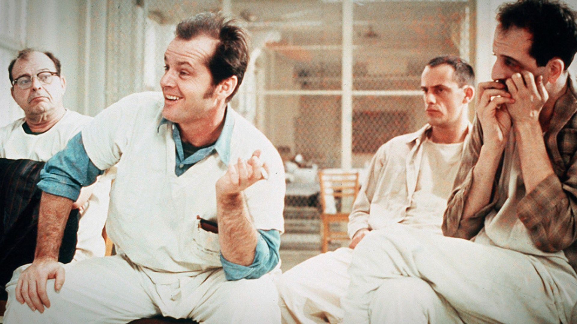 Top 250 фильмов IMDb Пролетая над гнездом кукушки(One Flew Over the Cuckoo's Nest) (1975)