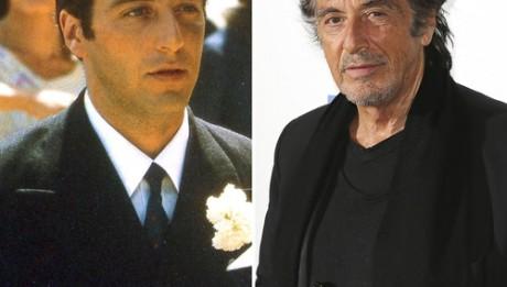 Аль Пачино 1972 год и сегодня Майкл Корлеоне