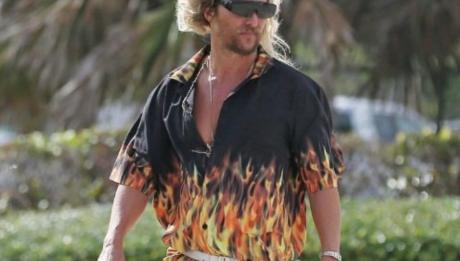Мэттью Макконахи на съемках фильма Пляжный бездельник (2018) — The Beach Bum
