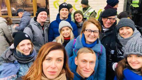 Акція на підтримку кандидатури Юлії Сінькевич Держкіно
