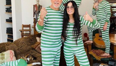 Деми Мур и Брюс Уиллис вместе на карантине