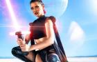 Джоани Бросас в откровенном эротичном косплее Звездных войн