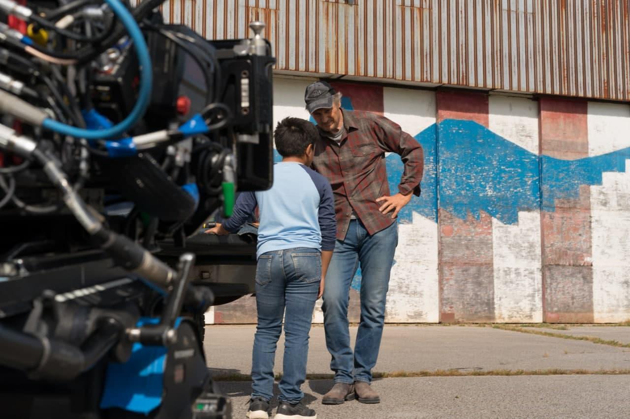 Ліам Нісон фото бекстейдж Захисник