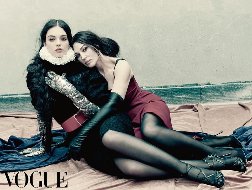совместные фото Моника Беллуччи и ее дочь Дева
