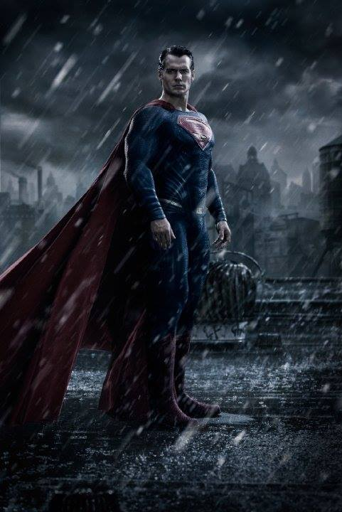 Генри Кавилл в роли Супермена в фильме Зака Снайдера Бэтмен против Супермена