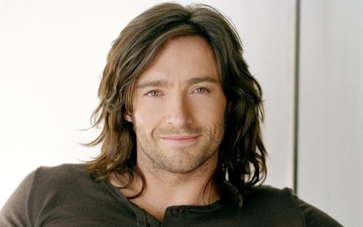 Хью Джекман 46 лет длинные волосы