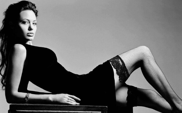 Анджелина Джоли фото чулки Angelina Joile photo stockings
