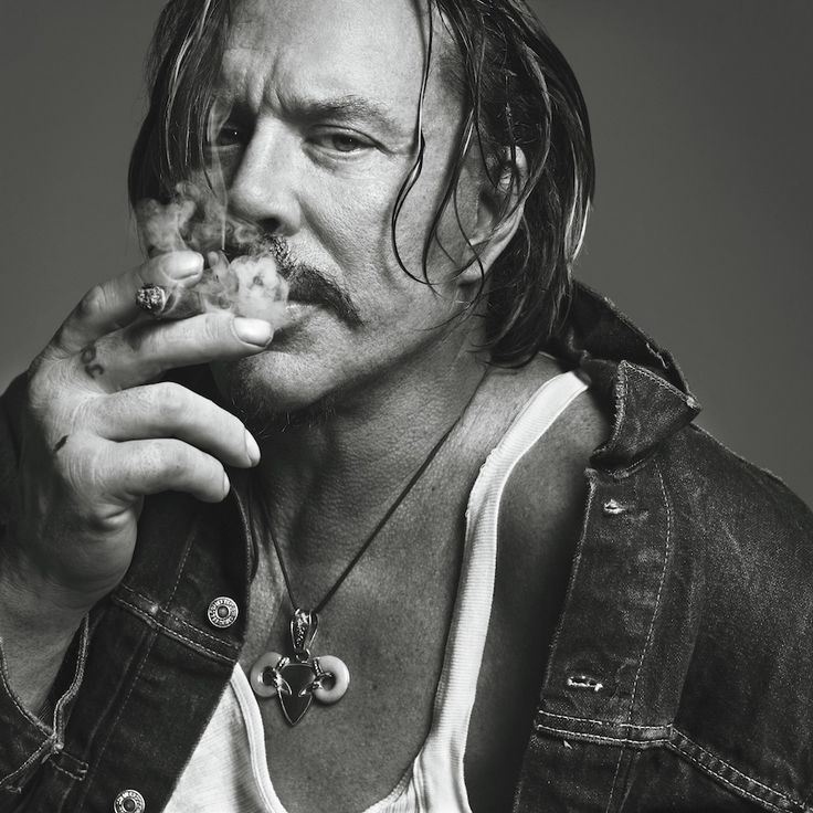 Микки Рурк фото сигара Mickey Rourke photo cigar