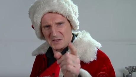Лиам Нисон пробы на роль Санта-Клауса