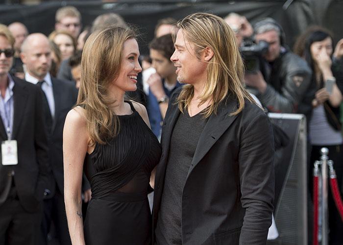 Брэд Питт копирует стиль своих женщин Анджелина Джоли