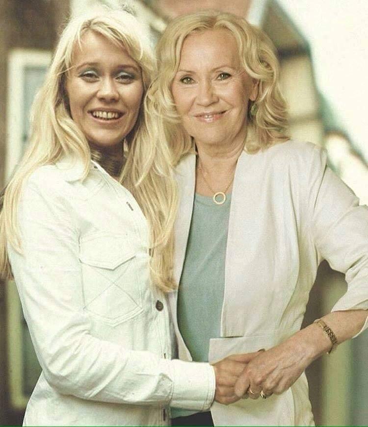 Актеры и музыканты встречают сами себя в молодости Агнета Фельтскуг (ABBA)