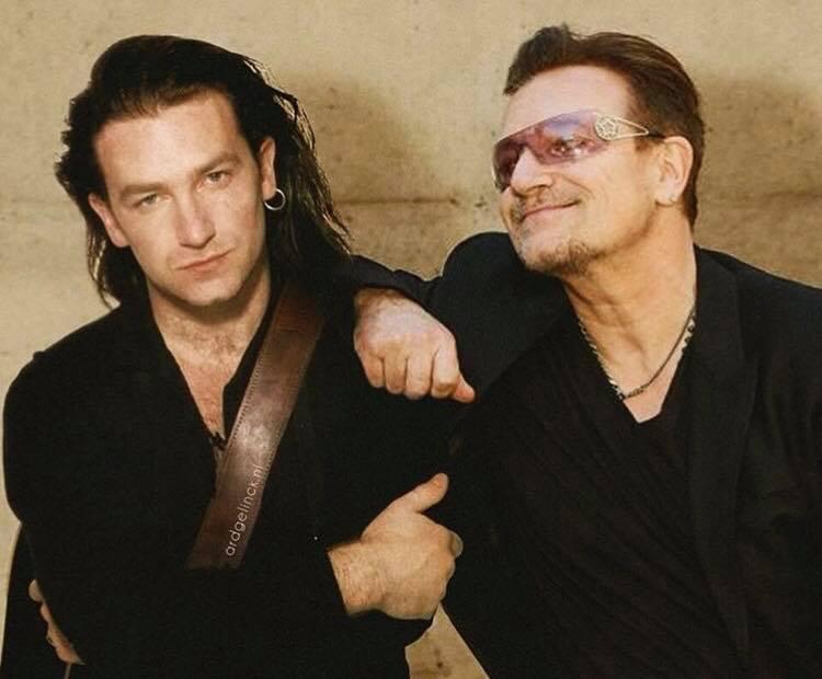 Актеры и музыканты встречают сами себя в молодости Боно