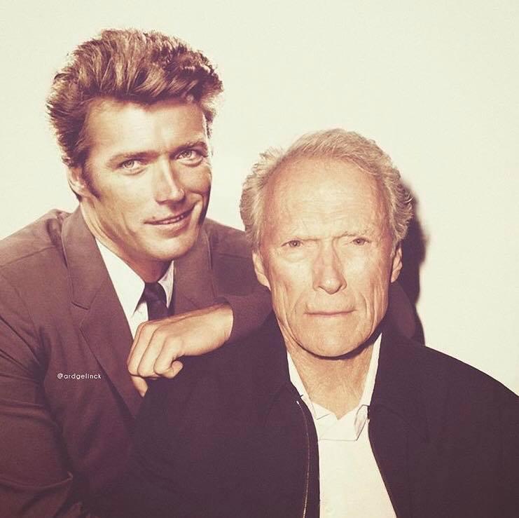 Актеры и музыканты встречают сами себя в молодости Клинт Иствуд