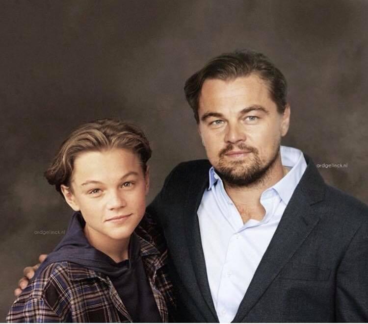 Актеры и музыканты встречают сами себя в молодости Леонардо Ди Каприо