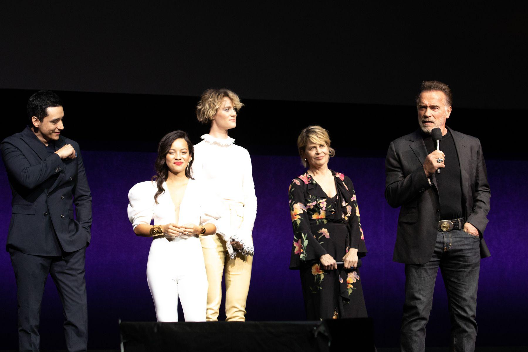 Термінатор Фатум на CinemaCon у Лос-Анджелесі актори