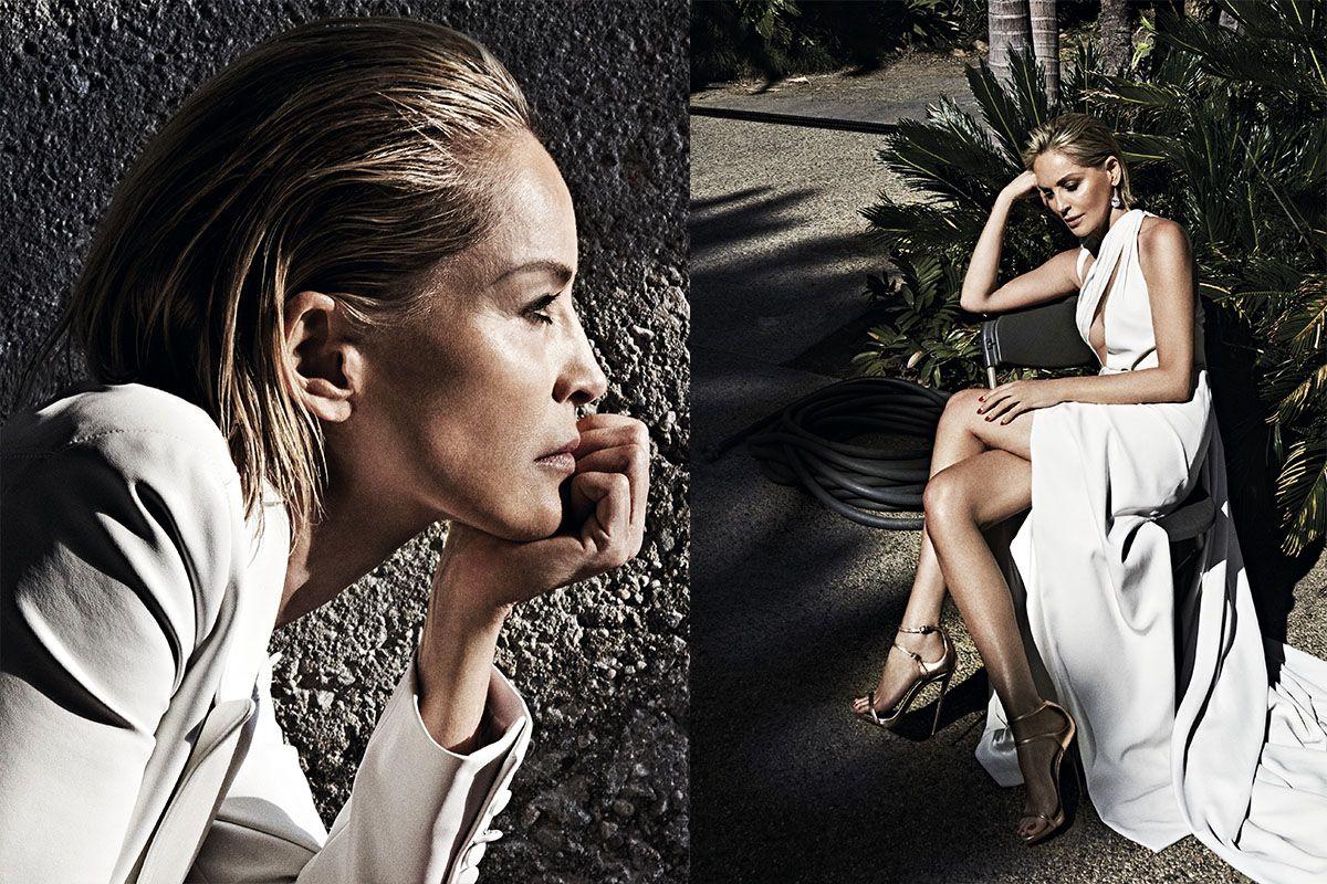 Шэрон Стоун обнаженная 61 год Vogue Португалия