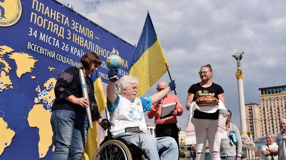 Микола Подрезан на Майдані