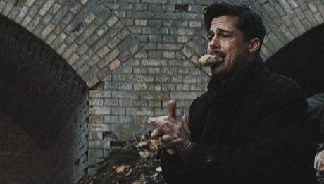 Брэд Питт ест в фильмах Бесславные ублюдки