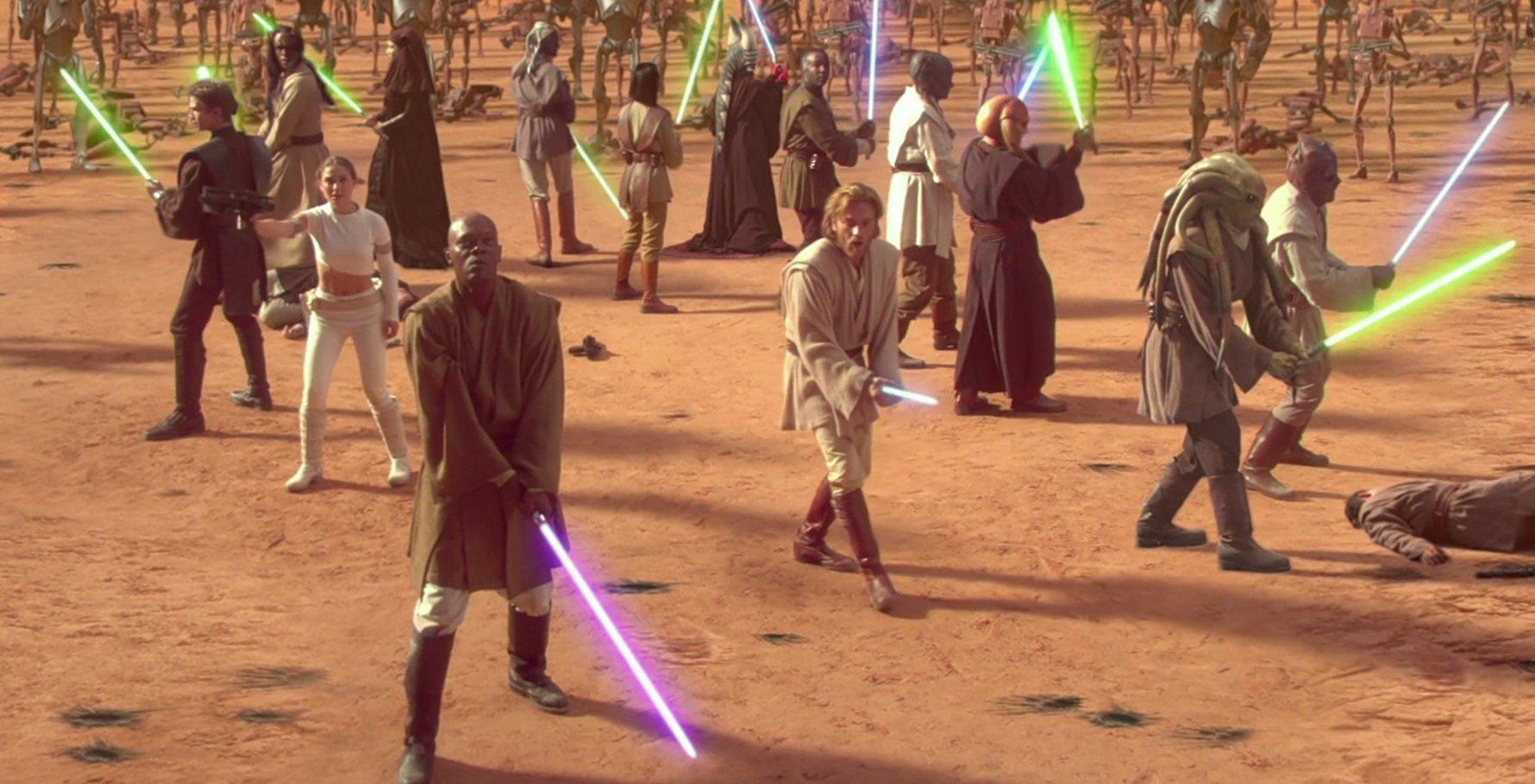 Звездные войны Атака клонов битва с клонами