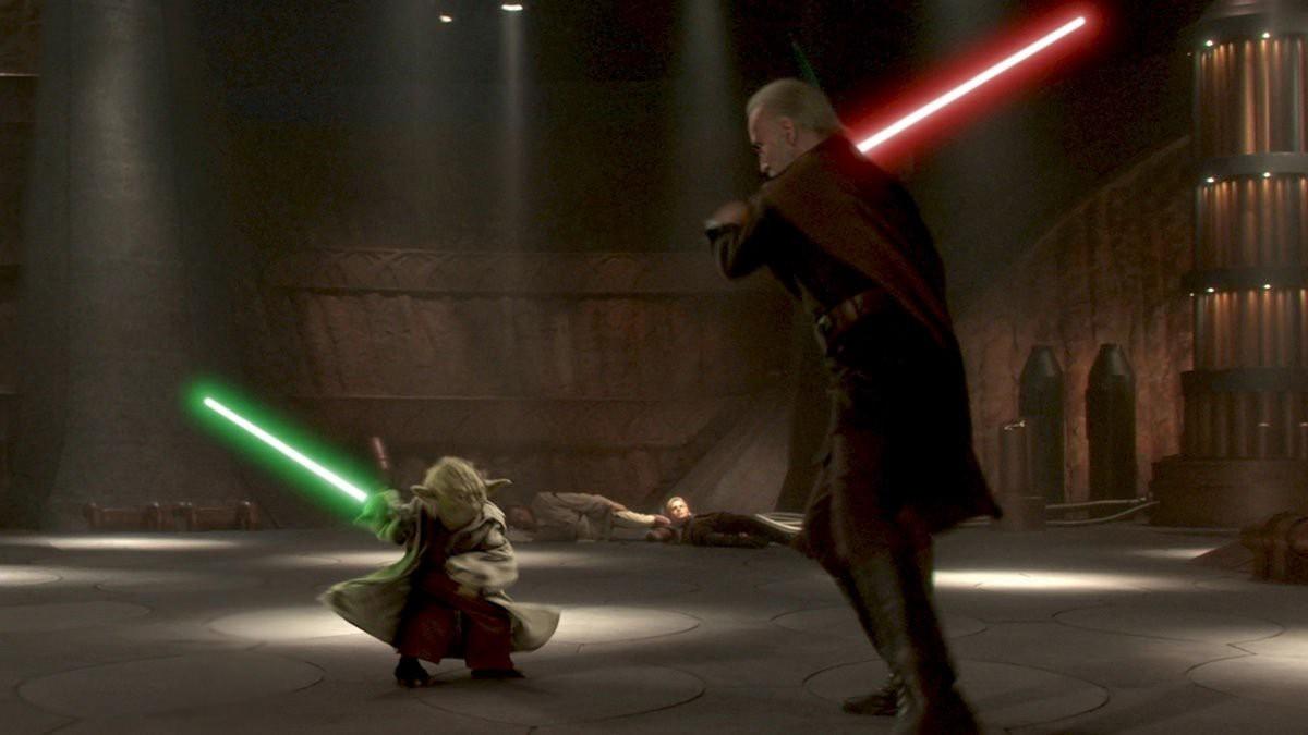 Звездные войны Атака клонов йода бой с графом дуку