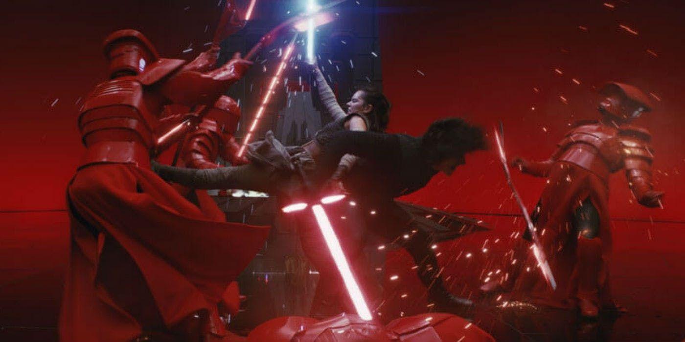 Звездные войны 8 Последние Джедаи Кайло Рен Рей бой