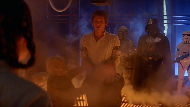 Империя наносит ответный удар Звездные войны Хана Соло замораживают