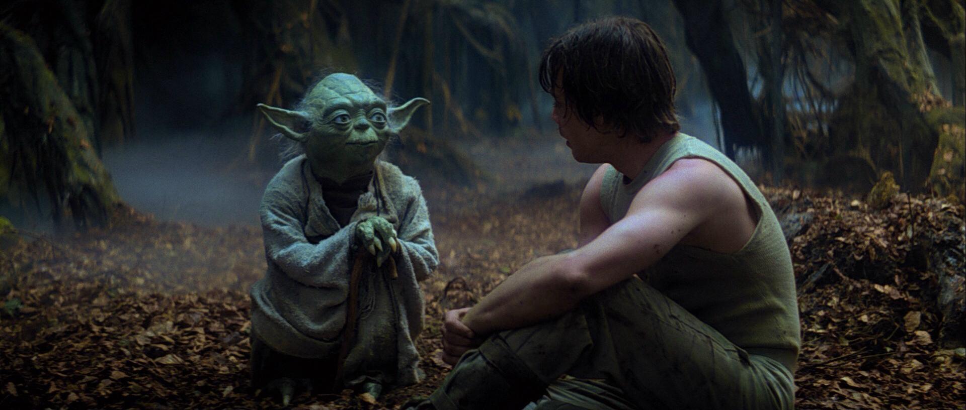 Империя наносит ответный удар Йода Люк Скайуокер