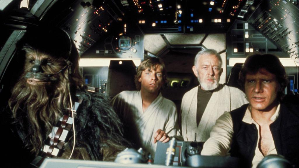 Новая надежда Звездные войны люк скайуокер оби ван кеноби хан соло чубакка