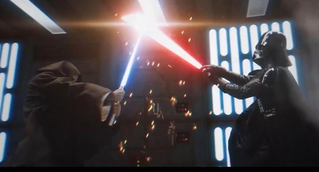 Новая надежда Звездные войны оби ван кеноби дарт вейдер бой на световых мечах