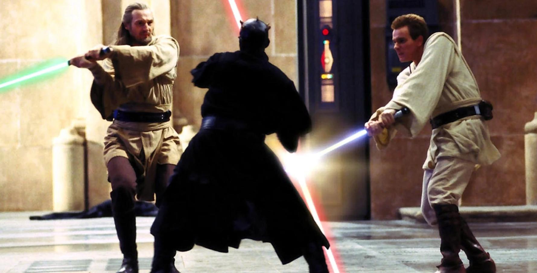 Скрытая угроза Звездные войны Дарт Молл Квай-Гон Джинн Оби-Ван Кеноби
