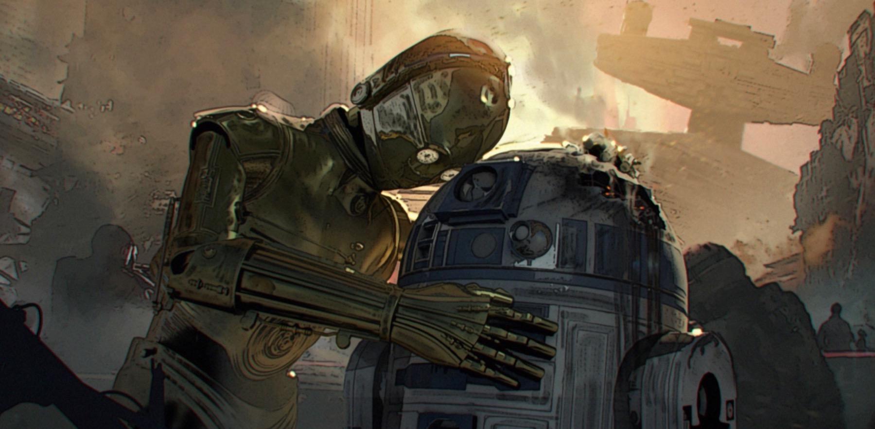 Колин Треворроу концепт-арты фильма Дуэль судеб В битве на Корусанте R2D2 уничтожен. Эмоции C3PO, которых мы раньше никогда не видели