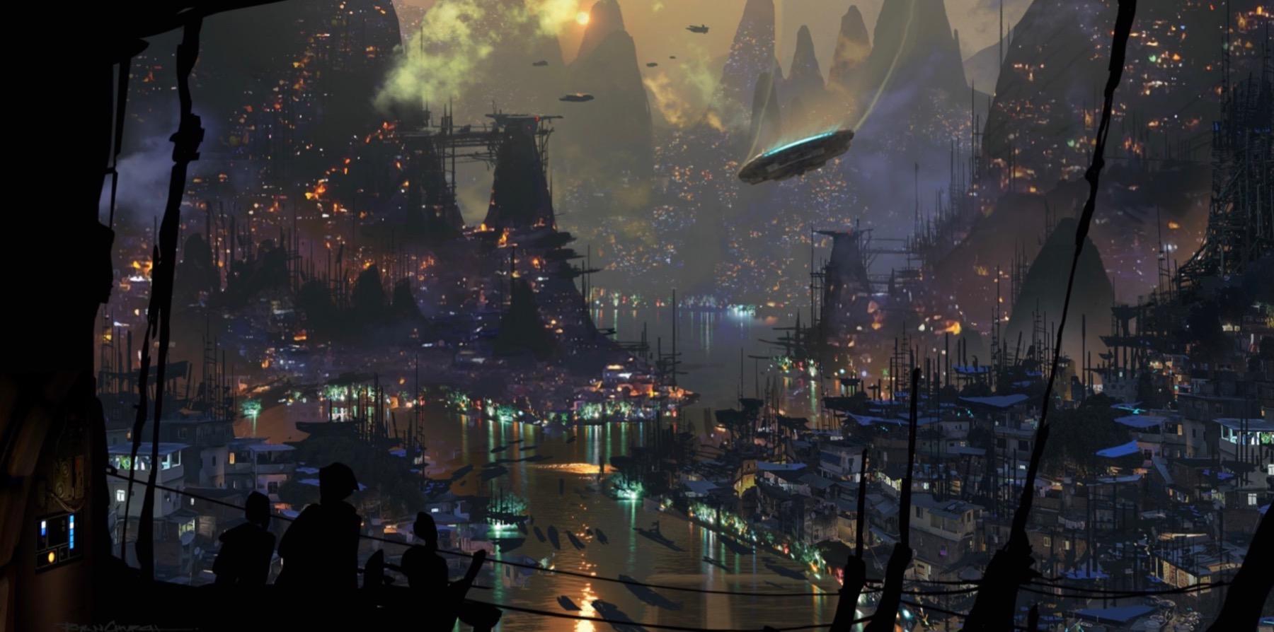 Колин Треворроу концепт-арты фильма Дуэль судеб Планета Бонадан, где По жил со своим дедушкой