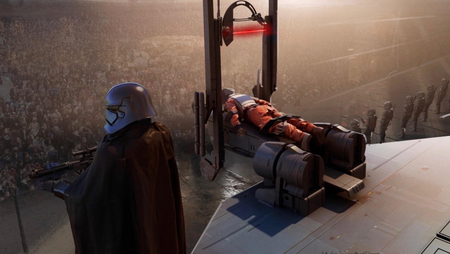 Колин Треворроу концепт-арты фильма Дуэль судеб Предателя Сопротивления (Биск Кова) казнят световой гильотиной на Корусанте