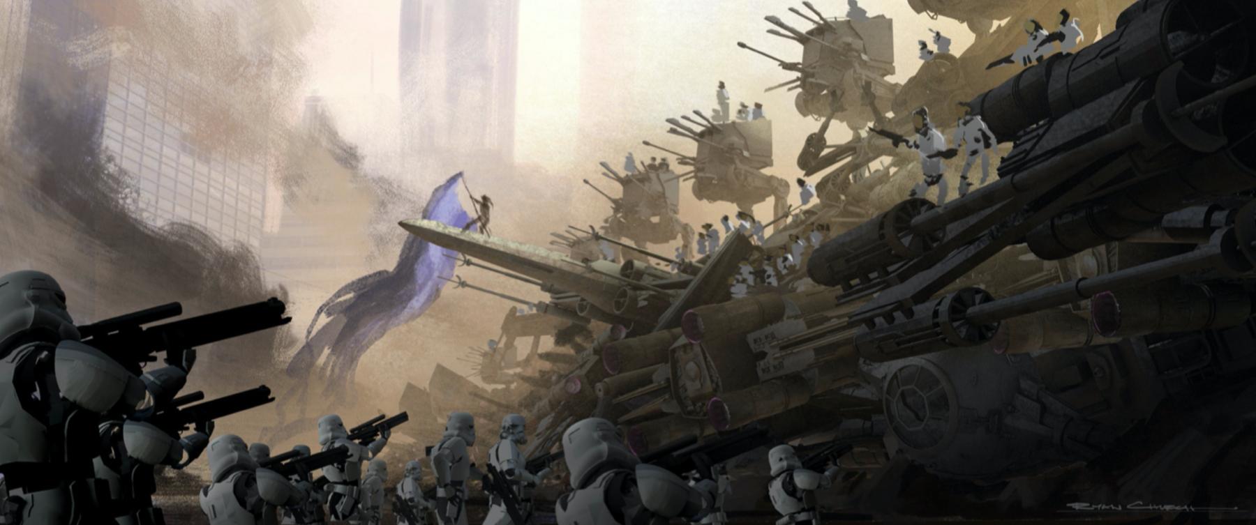 Штурмовики готовятся к битве против жителей Корусанта