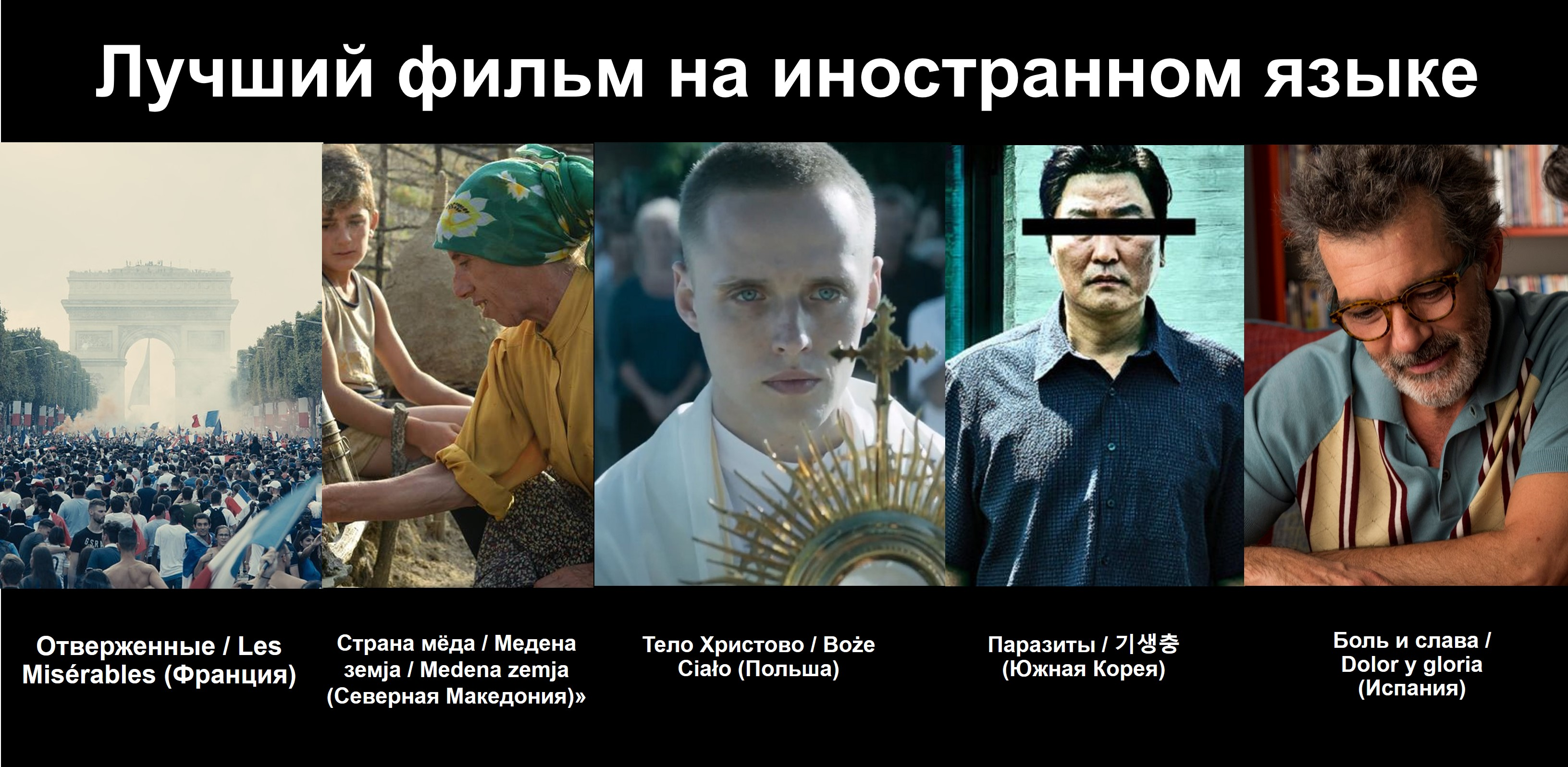 лучший фильм На иностранном языке Оскар 2020