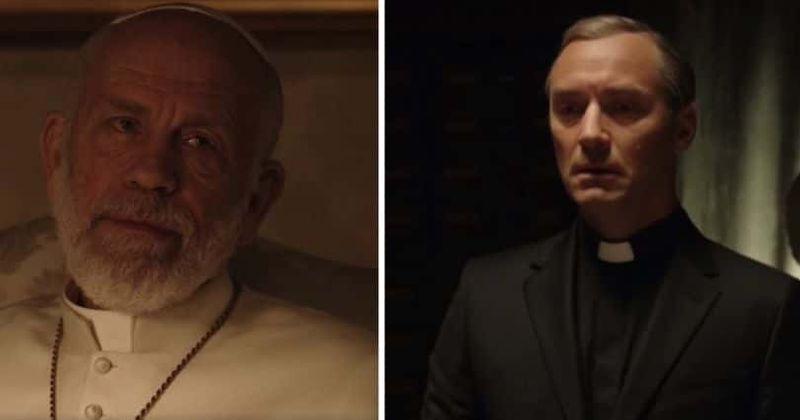 Новый Папа 8 серия Джуд Лоу Джон Малкович