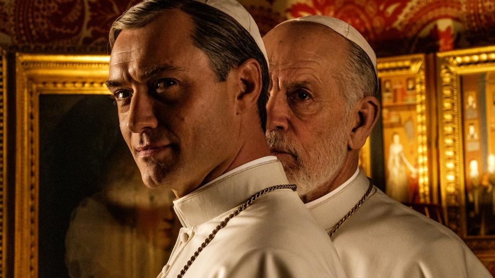 Новый Папа 9 серия Джон Малкович и Джуд Лоу