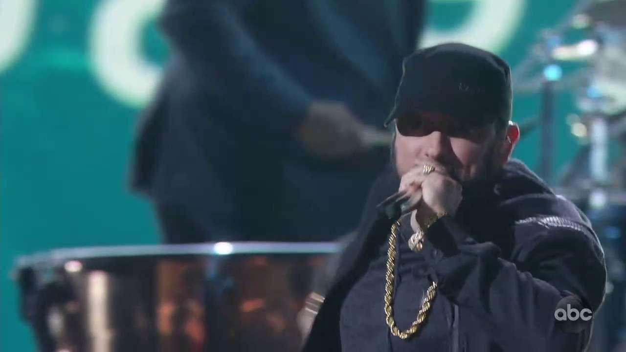 Eminem спел Lose Yourself на церемонии вручения Оскаров. #Oscar2020 #Оскар2020 #Eminem