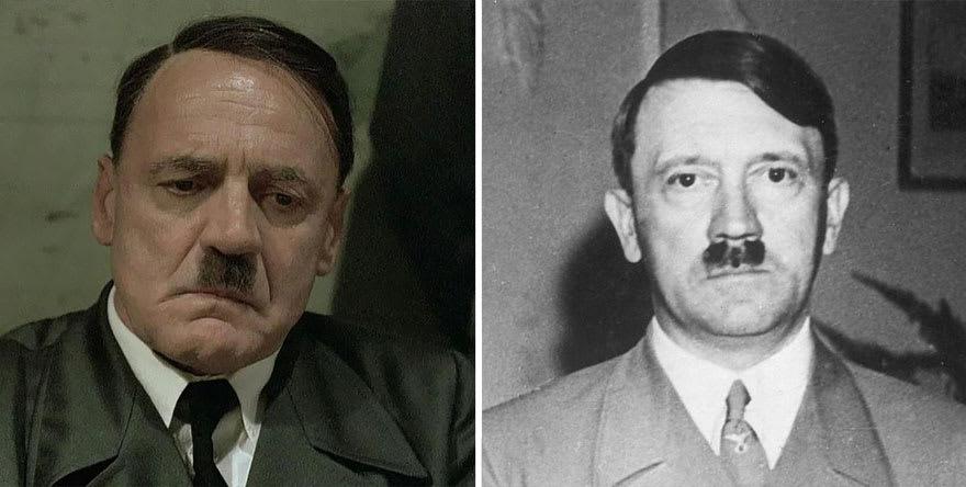 Бруно Ганц в роли Адольфа Гитлера в фильме Бункер (Der Untergang) 2004