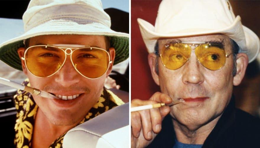 Джонни Депп в роли Хантера Томпсона в фильме Страх и ненависть в Лас-Вегасе (Fear and Loathing in Las Vegas) 1998