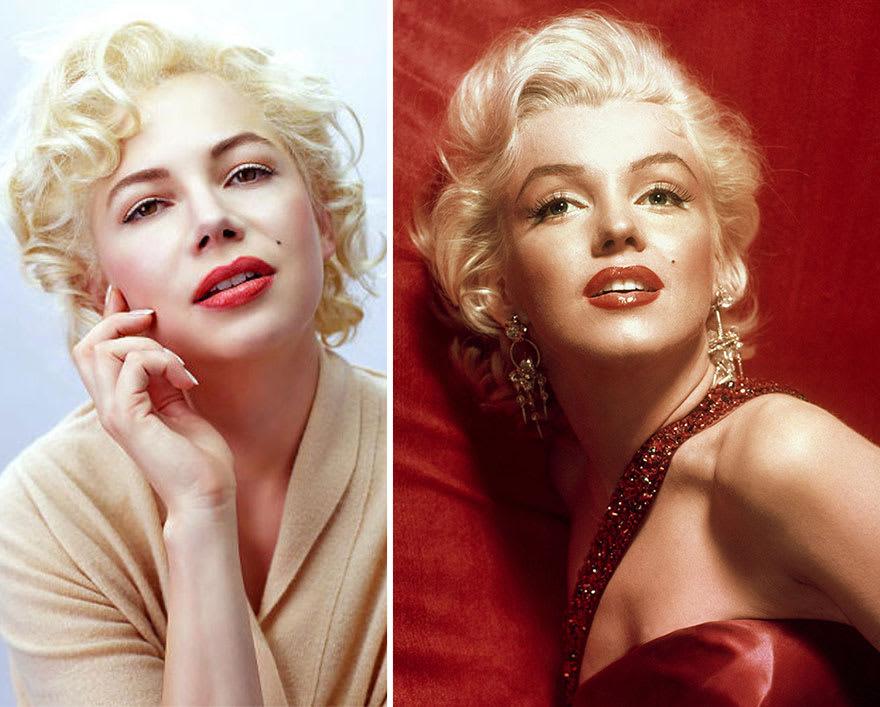 Мишель Уильямс в роли Мэрилин Монро в фильме 7 дней и ночей с Мэрилин (My Week with Marilyn)