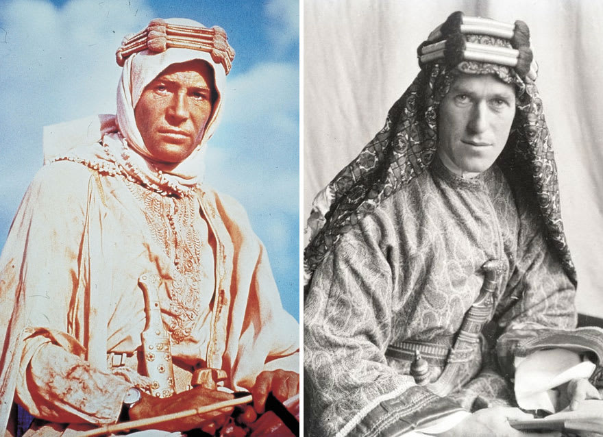 Питер О'Тул в роли Томаса Эдварда Лоуренса в фильме Лоуренс Аравийский (Lawrence Of Arabia) 1962