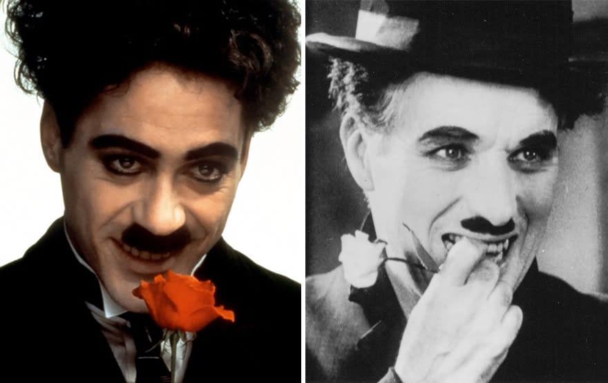 Роберт Дауни-младший в роли Чарльза Чаплина в фильме Чаплин (Chaplin) 1992