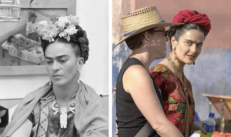 Сальма Хайек в роли Фриды Кало в фильме Фрида (Frida) 2002
