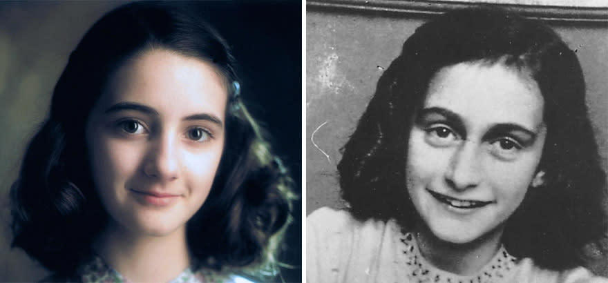 Ханна Тейлор-Гордон в роли Анны Франк в сериале Анна Франк (Anne Frank The Whole Story) 2001