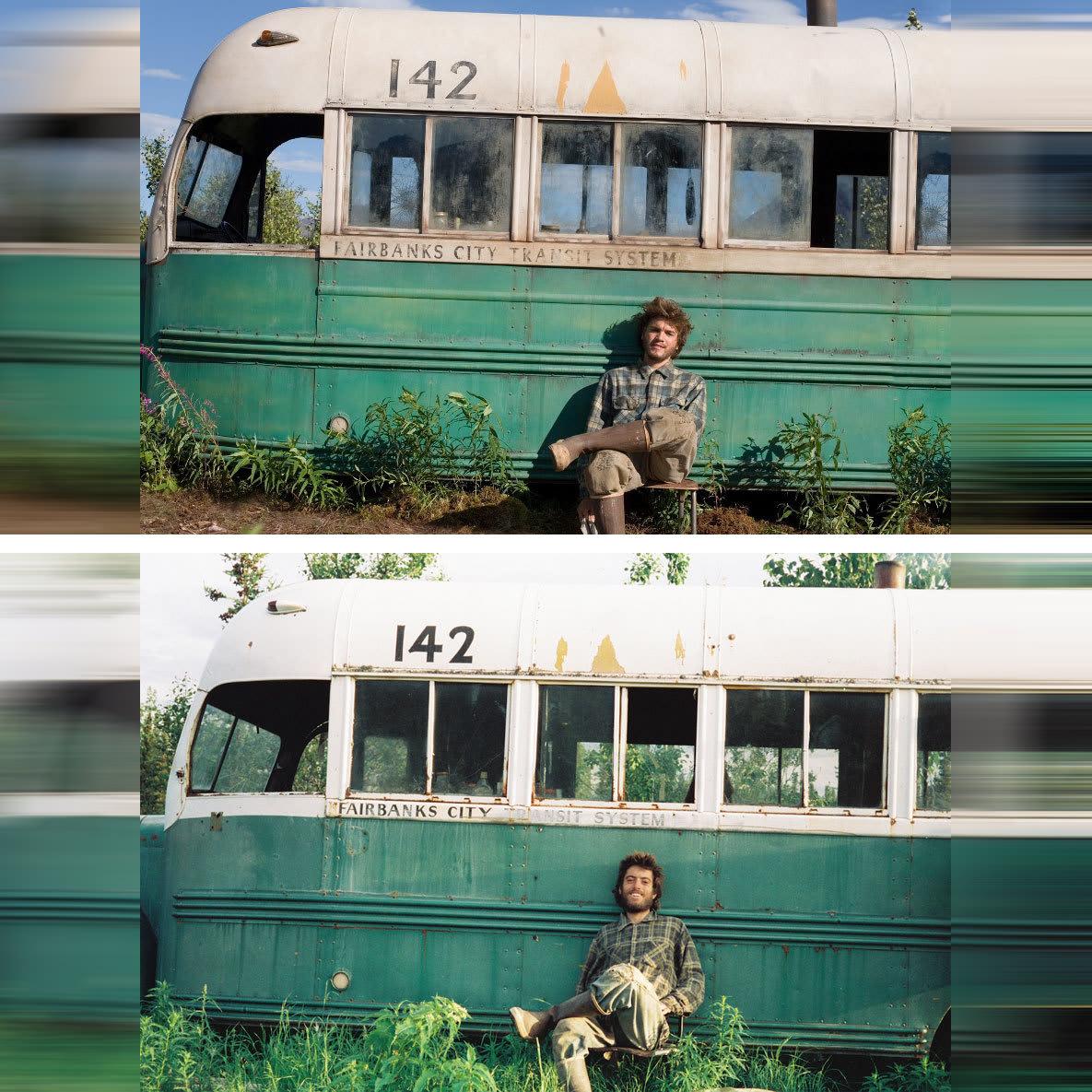 Эмиль Хирш в роли Кристофера Маккэндлесса в фильме В диких условиях (Into the Wild) 2007