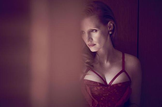 Джессика Честейн фото грудь