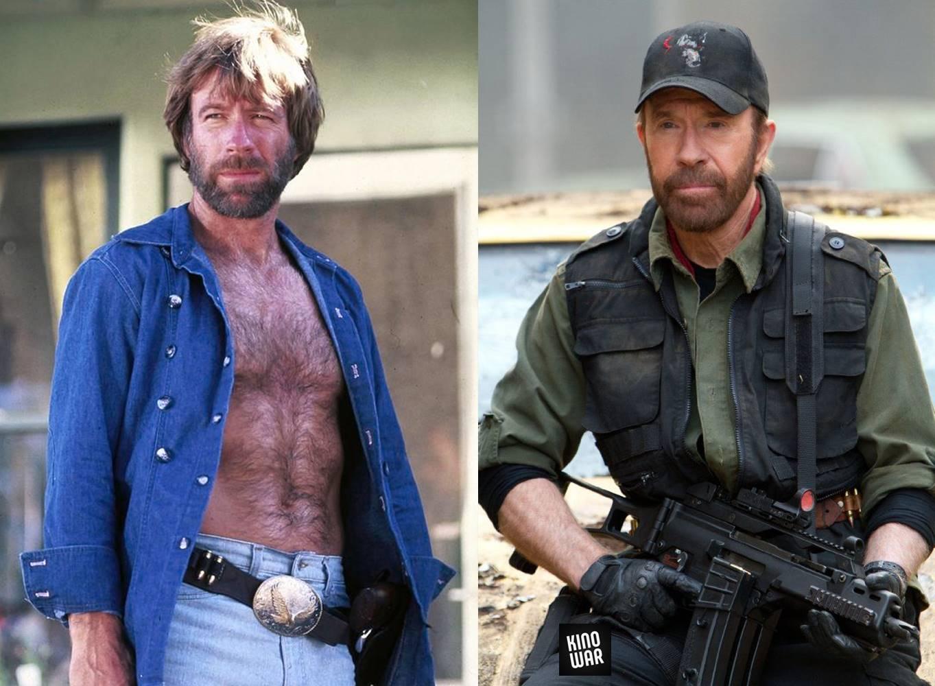 Герои боевиков 80-х 90-х тогда и сейчас Чак Норрис